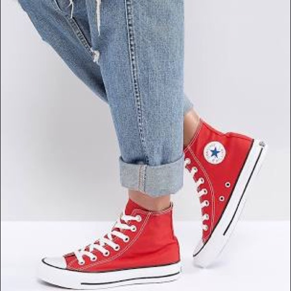 Converse Shoes | Red Converse High Tops